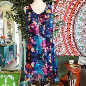 Mossimo Colorful High Low Sleeveless Dress
